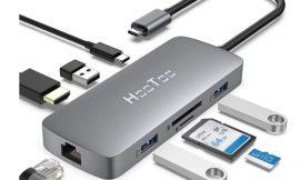 Hub 8 en 1 Hootoo, conectividad tipo C, HDMI 4k, puerto C 100W, 3 USB A, Ethernet Rj45 y lector SD/TF por 25,99€ antes 39,99€.