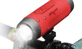 Luz frontal para bici con altavoz bluetooth CSR, 4000mAh powerbank, micro por 19,17€ antes 30,94€.