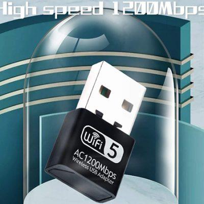 Nano adaptador inalámbrico de red wifi Festnight, 2.4G (300Mbps) y 5G (866 Mbps) por 6,99€.