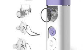 Nebulizador e inhalador portátil ultrasónico para niños y adultos con boquilla y mascarilla Hylogy por 24,99€ antes 34,99€.