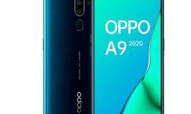 "Oppo A9 2020, pantalla de 6.5"" HD+, 4G, Snapdragon 665, 4GB, 128GB, cámara cuadrúple por 193,00€."