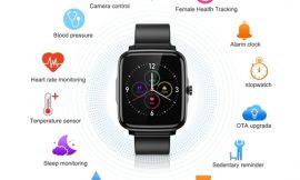 Smartwatch deportivo Leelbox, BT 5.0, IP68, pantalla táctil, 11 modos deportivos, frecuencia cardíaca 24h/presión arterial, control de periodo mestrual por 16,99€ antes 39,99€.