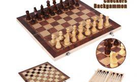 Tablero plegable de madera ajedrez/damas/backgammon por 15,99€ antes 31,98€.
