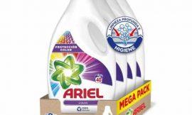 Detergente líquido para lavadora Ariel Color y brillo (4×40= 160 lavados) por sólo 35,99€.