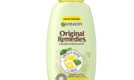 Champú purificante Garnier Original Remedies con arcilla suave y limón para cabello graso por sólo 2,34€.