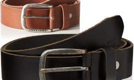 Cinturón de piel Jack and Jones marrón o negro por sólo 13,99 euros.