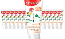 12 Envases de pasta de dientes Colgate para niños de 3 a 5 años con sabor a frutas (12x50ml) por sólo 12,00€.