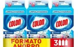 3 Envases de Colon Limpia lavadoras con 6 acciones por sólo 8,40€.