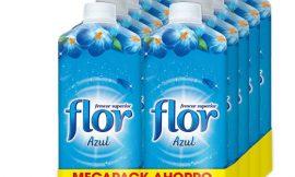 10 Botellas de suavizante para la ropa Flor Frescor Azul (530 lavados) por sólo 16,78€.