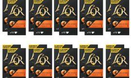 200 cápsulas de café L'Or Delizioso Intensidad 5 (20×10) por 51,00€ en tiendas 68,00€.