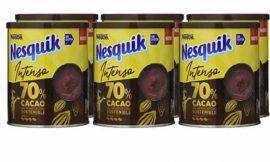 6 Botes de cacao soluble Nesquik Intenso 70% de cacao (6x300g) por sólo 16,65€.