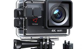 Cámara de acción Victure AC800, 4K, Wifi, dos baterías 1050mAh y accesorios por 38,99€ antes 69,99€.