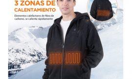 Sudadera calefactable Iurek con con capucha térmica y powerbank 10000mAh a mitad de precio por 43,49€ antes 86,99€; nuevo modelo de chaqueta por 48,49€ antes 96,99€.