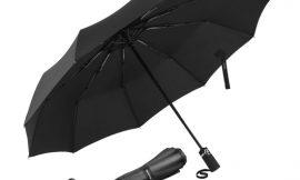 Paraguas plegable con apertura y cierre automático, 120cm, funda/estuche absorbente de agua por sólo 9,99€.