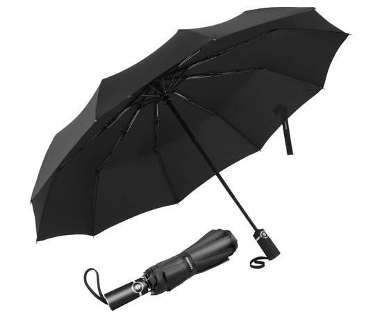 En este momento estás viendo Paraguas plegable con apertura y cierre automático, 120cm, funda/estuche absorbente de agua por sólo 9,99€.