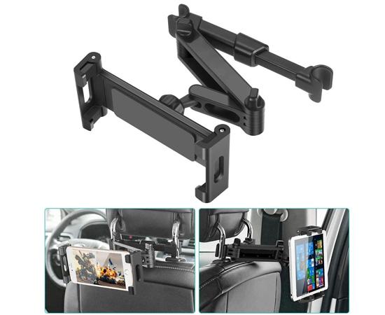 Soporte de coche universal para tablets de 5,5/12.9″ por 11,69€.