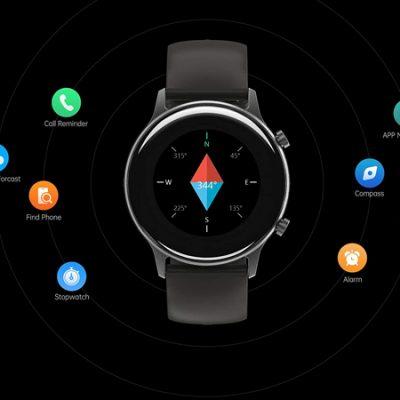 Smartwatch Umidigi Urun, monitoreo de oxígeno en sangre y frecuencia cardíaca 24h/7d, 17 modos deportivos, GPS integrado por 23,99€ antes 39,99€.