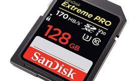 Tarjeta de memoria microSD Sandisk Extreme PRO de 128GB con velocidad de lectura de 170 MB/s por 28,79€.