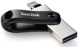 Memoria Dual Sandisk iXpand Go de 128GB con conector Lightning y USB por sólo 31,39€.