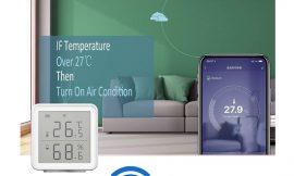 Higrómetro/termómetro Wifi compatible con Alexa a mitad de precio: por 16,99€ antes 33,98€.