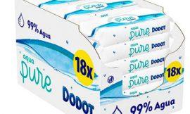 18 Envases de toallitas higiénicas Dodot Aqua Pure para bebé (18×48= 864 toallitas) por sólo 33,18€