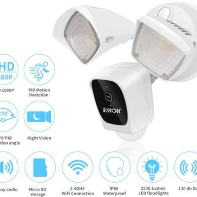 Cámara de seguridad exterior wifi, 1080P, audio bidireccional con iluminación y sirena 110db a mitad de precio: por 84,50€ antes 169€.