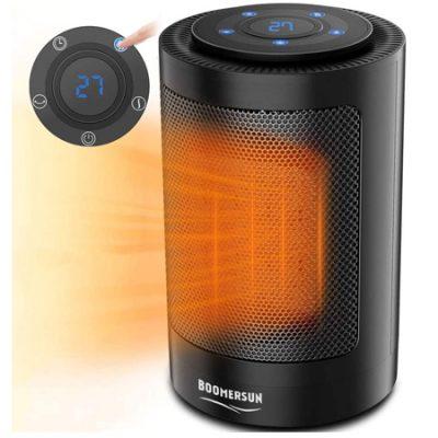 Mini calefactor cerámico Boomersun, termostato regulable 750/1500W por 13,99€ antes 27,99€.