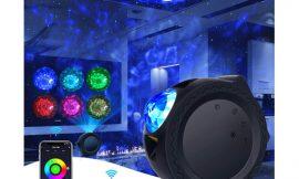 Proyector de estrellas, 8 modos de iluminación, app, compatible con Alexa por 21,99€ antes 39,99€.