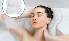 Tu cuello y hombros también se merecen un descanso; almohada de baño reposacabezas para bañera por 16,09€.