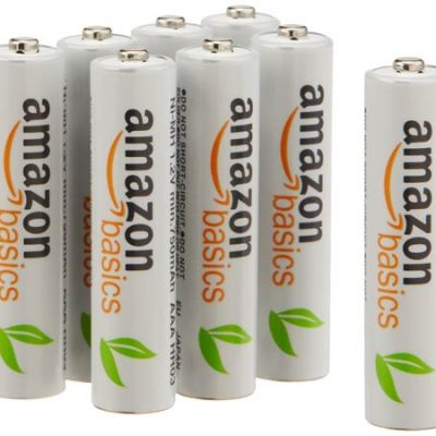 Juego de 8 pilas recargables AA AmazonBasics Eneloop, precargadas, 1000 ciclos, 2000 mAh por sólo 13,99 euros