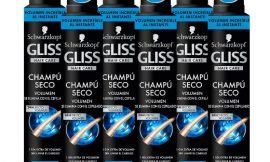 6 Envases de champú en seco Gliss Volumen (6x200ml) por sólo 14,62€.