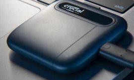 Disco SSD portátil Crucial X6 de 1TB por 87,99€.