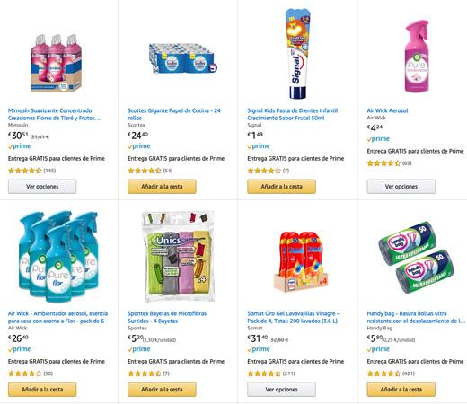 Grandes ofertas en la limpieza y cuidado personal de Amazon: segunda unidad al 50%