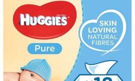 Toallitas para bebés Huggies Pure, pack de 18 paquetes con 1.008 toallitas por sólo 18,05€ y 16,06€ activando compra recurrente.