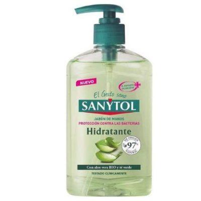 Jabón de manos hidratante y antibacteriano Sanytol con Aloe Vera y Té Verde 250ml. por sólo 2,40€.