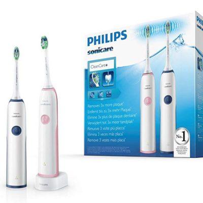 Dos cepillos Philips Sonicare CleanCare por 29,90€ antes 49,99€.