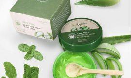 Crema para mascarilla hidratante de Aloe Vera LuckyFine, 100g por 6,29€.