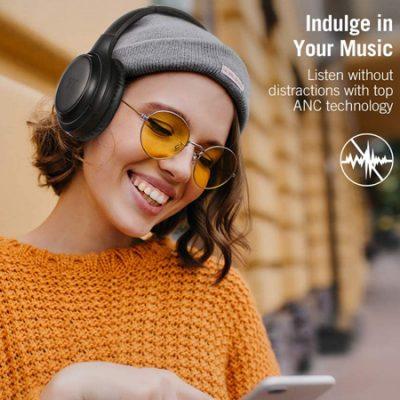 Auriculares de diadema Taotronics Bluetooth 5.0, autonomía de 30 horas, micrófono con cancelación de ruidos HVC 8.0 y cable de audio por 35,74€ antes 54,99€.