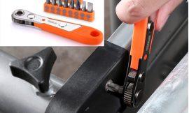 Llave carraca magnética Tacklife con 16 puntas por 6,99€.