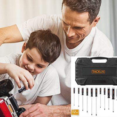 Juego de destornilladores magnéticos Tacklife por 12,59€.