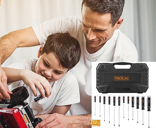 En este momento estás viendo Juego de destornilladores magnéticos Tacklife por 12,59€.