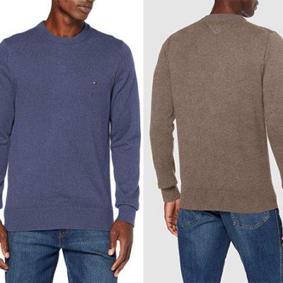 Jersey de cachemir Tommy Hilfiger en varios colores por sólo 54 euros. Antes 109 euros.